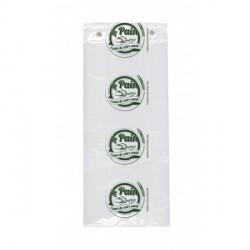 200 Sachets imprimés Vert/Blanc.