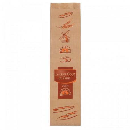 1000 Sacs à baguette Marron Orange kraft brun.