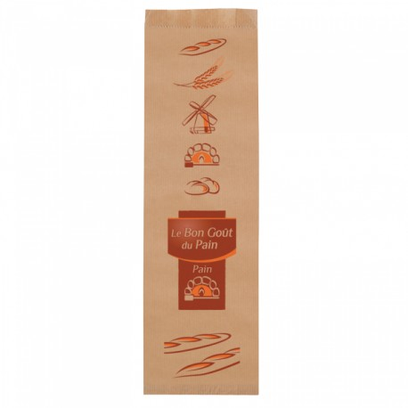 1000 Sacs à gros pain Marron Orange kraft brun.