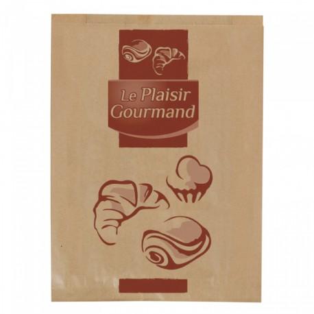 1000 Sacs croissants No 2 papier kraft brun.
