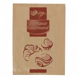 1000 Sacs croissants No 3 papier kraft brun.