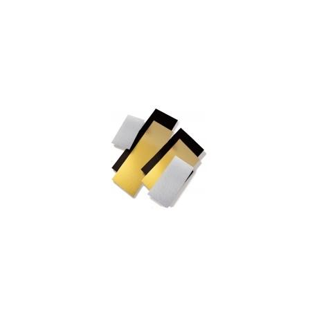 50 Supports carton or noir double face 12 x 21 cm.