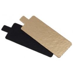 200 Rectangles languettes 9,5 cm carton or noir double face.
