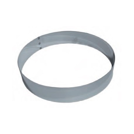 Cercle à mousse en inox 22 cm