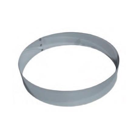 Cercle à mousse en inox 24 cm
