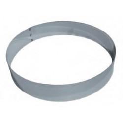 Cercle à mousse en inox 26 cm