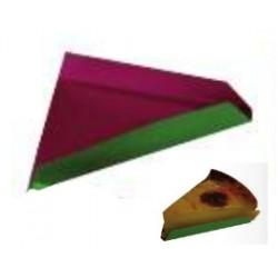 200 Fonds pliés triangle intérieur fuchsia 9-11 cm.
