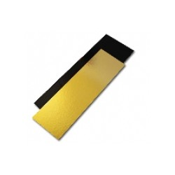 50 semelles de bûche or/noir droites 60 x 10 cm.