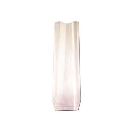 100 sacs polypropylène avec fond carton 120x260 mm