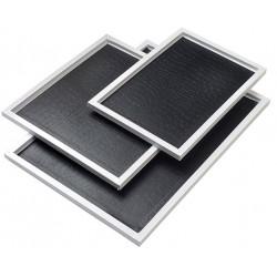Plateau Ambassadeur 190x275 bord gris perlé