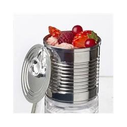 200 verrines boite de conserve 60 ml couleur métal.
