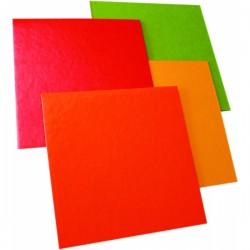 50 Carrés angle droit 18 cm carton orange citron double face.