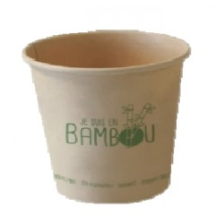 50 Gobelets bambou 18 cl.