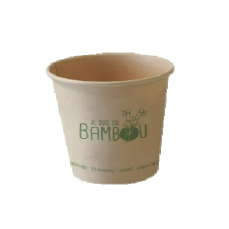 50 Gobelets bambou 25 cl.