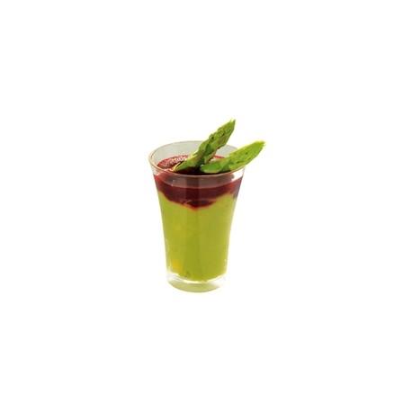 600 Mini-Verres transparent vert.