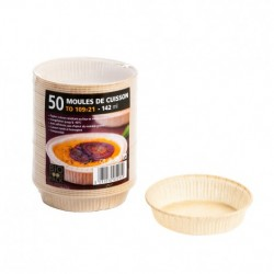 50 Moule de cuisson papier 109 mm - 142 ml Bio Food Pack.