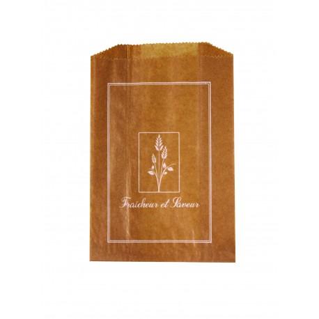 1000 Sacs croissants No 3 papier kraft brun Fraîcheur et saveur.
