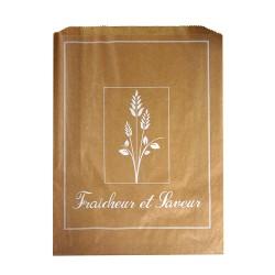 1000 Sacs croissants No 6 papier kraft brun Fraîcheur et saveur.