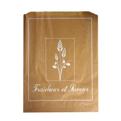 1000 Sacs croissants No 7 papier kraft brun Fraîcheur et saveur.